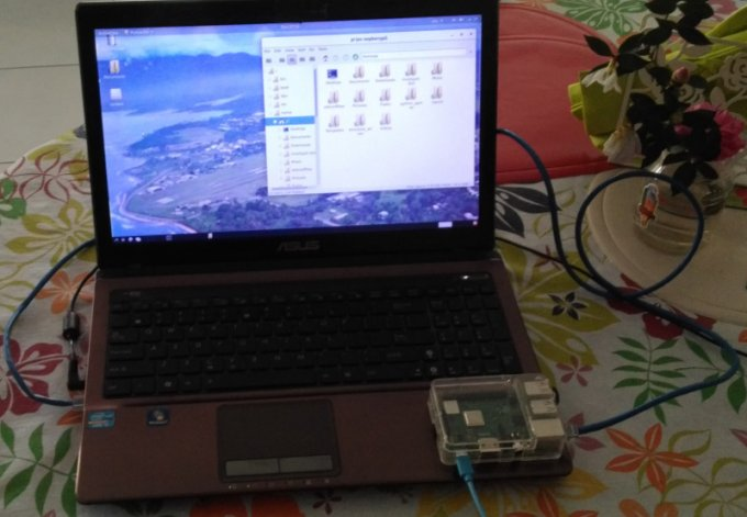 Raspberrypi using a laptop screen
